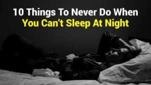 cant sleep at night