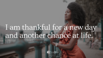 thankful for a new day