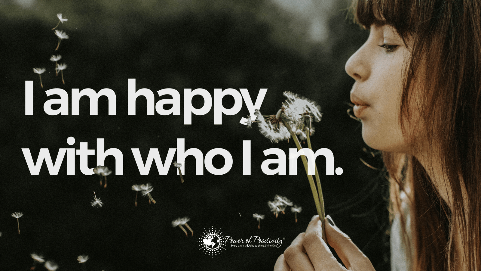 happy with who i am